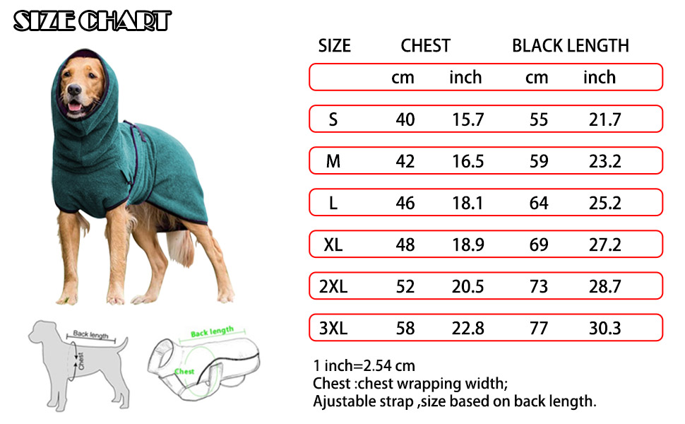 small medium large dog coat
