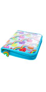 estuche completo escolar para niñas arcoiris set cremallera regalos niñas 5 6 7 8 9 10 11 cumpleaños