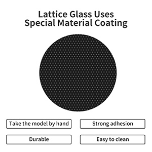 ronxy crystal lattice glass uses a special material coating, which maximizes its durability