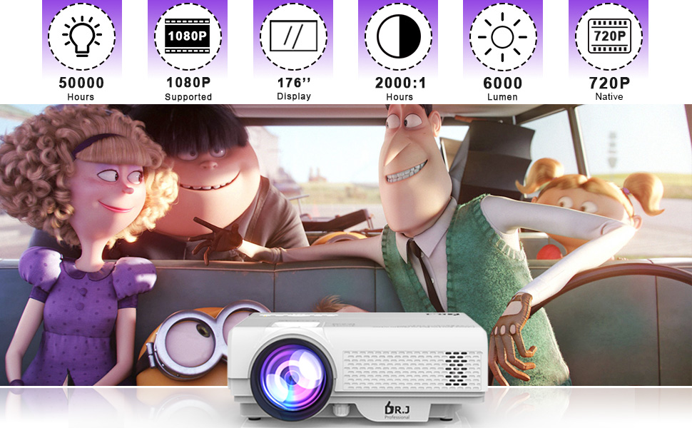 DR.J Professional video projector for Kids