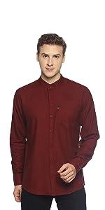 Band collar, chinese collar, cotton shirt, plain shirt for men, latest, casual, fashion, levizo