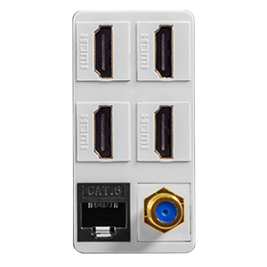 HDMI CAT6 COAX Wall Outlet