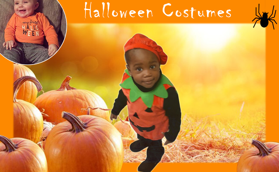 pumpkin halloween costume baby