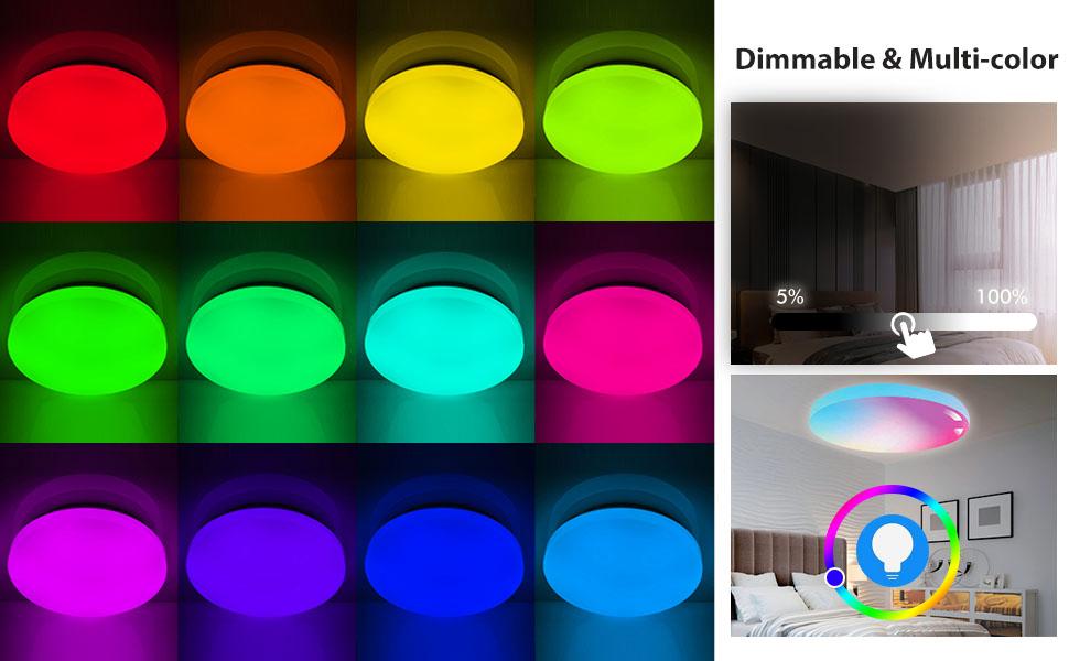 led ceiling light multi color