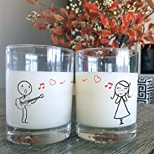boldloft couple drinking glass guitar lovers anniversary valentines day christmas his hers gifts set