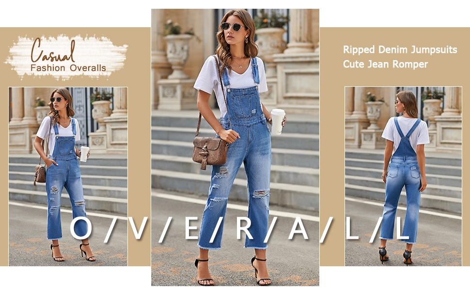 Overalls jumpsuits jeans pants for women luvamia jeans fashion casual overall