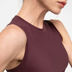 women shirts sleeveless top tank blouse workout athletic cool yoga sports spandex tops round neck