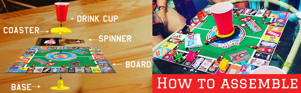drinking party games for adults board game night beer drinking gifts for him, grown up games party