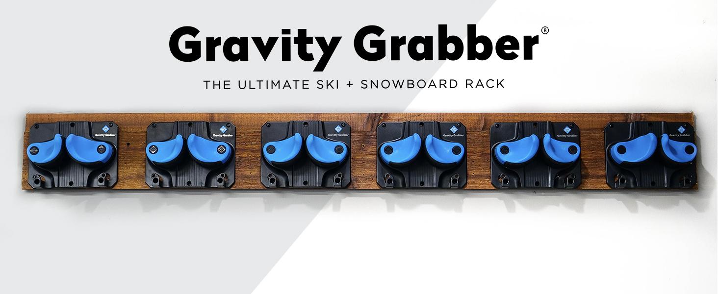 Gravity Grabber ski and snowboard garage rack