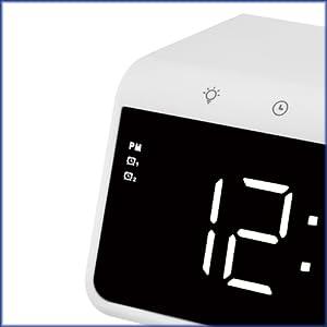 Think Gizmos Reloj Despertador Digital con Cargador Inalámbrico Qi ...