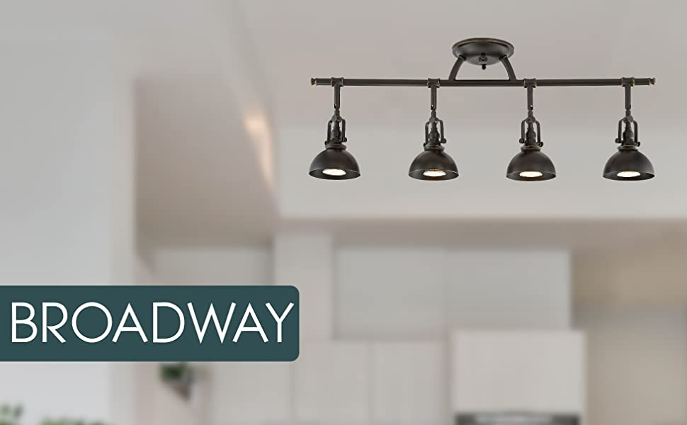 kira home broadway 4 light industrial adjustable oiled rubbed bronze track lighting vintage light