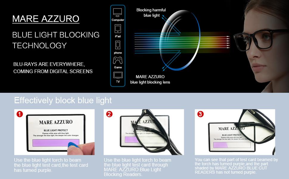 fiter blue light reading glasses women digital screen readers square light with spring hinge