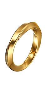irregular yellow gold rings