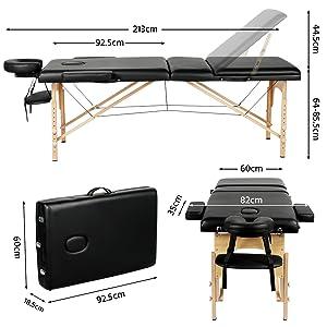 Adjustable Massage Bed