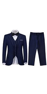 Little Boys Suits Formal 5 Piece Slim Fit Boys Tuxedo Suit Set