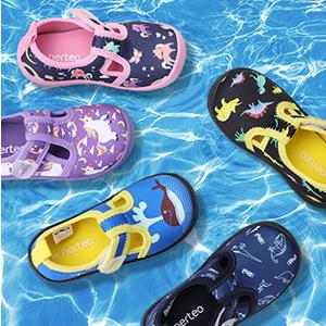 Color Pen Shower Slippers Beach Sandals for Little Kids Boys Girls Indoor Outdoor