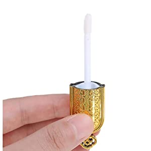 Empty Refillable Plastic Lip Gloss Tube with Gold Crown Lid Detailed product display