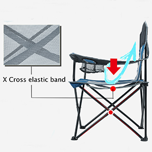 outdoor chair with cup holder sillas portables camping quad mesh chair silla plegable camping