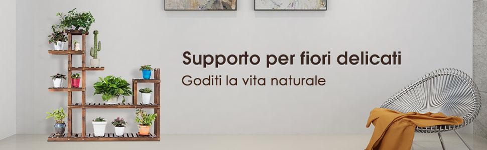 80 x 23 x 192 cm COSTWAY Libreria in Legno Scaffale Multifunzionale a 6 Ripiani per Piante e Libri per Ufficio Casa Ripiano a Forma di S caff/è
