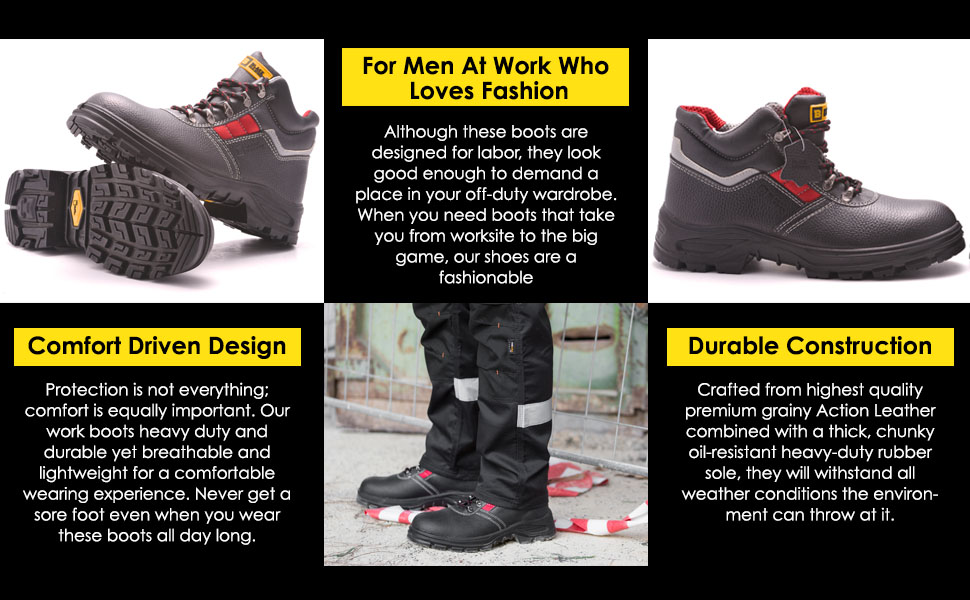 urable work boots are comfortable to wear