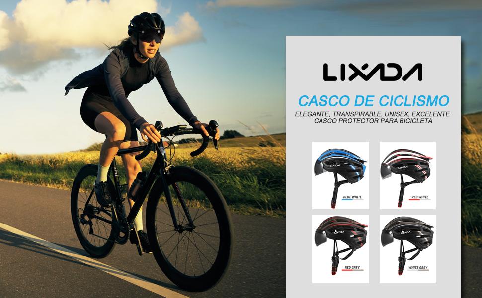 Lixada Casco de Bicicleta de Montaña Casco de Motociclismo con ...