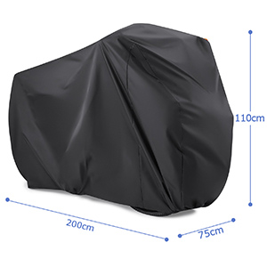 200*70*110cm Bike Cover for 2 Bikes Bike Covers for Outside Storage 210T Nylon Waterproof Bicycle Cover Anti Dust Rain UV Protection for Mountain Bike//Road Bike with Lock-holes Storage Bag