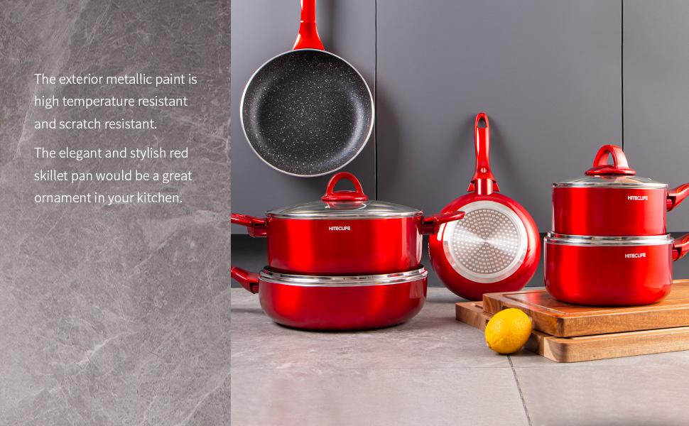 kitchen scratch resistant skillet pan