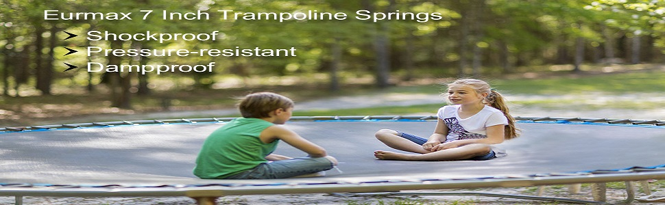 Eurmax Trampoline Springs Galvanized Steel Replacement Spring,Trampoline Springs T Hook, 20pcs,7inch