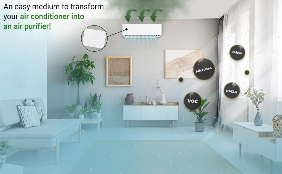 prana air split air conditioner filter