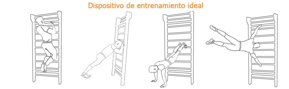 COSTWAY Escalera Sueca Barras de Pared 195x80x14cm Madera Espaldera para Gimnasio Fitness Casa Deportiva Carga hasta 100 kg