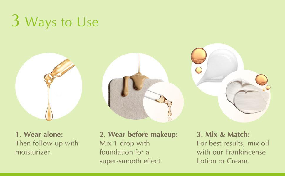 frankincense essential oil Inna Organic makeup moisturizer