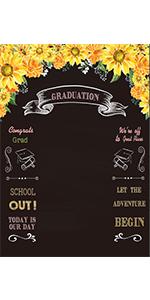 Graduation Chalkboard Backdrop