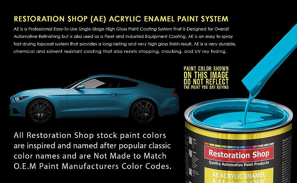Amazon Com Restoration Shop Jet Black Gloss Acrylic Enamel Auto Paint Complete Quart Paint Kit Professional Single Stage High Gloss Automotive Car Truck Equipment Coating 8 1 Mix Ratio 2 8 Voc Home Improvement