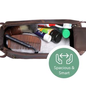 Toiletry Bag Shaving Dopp Case Travel Bags Shower Bathroom Hygiene Holds Beard Trim Kit Accessories