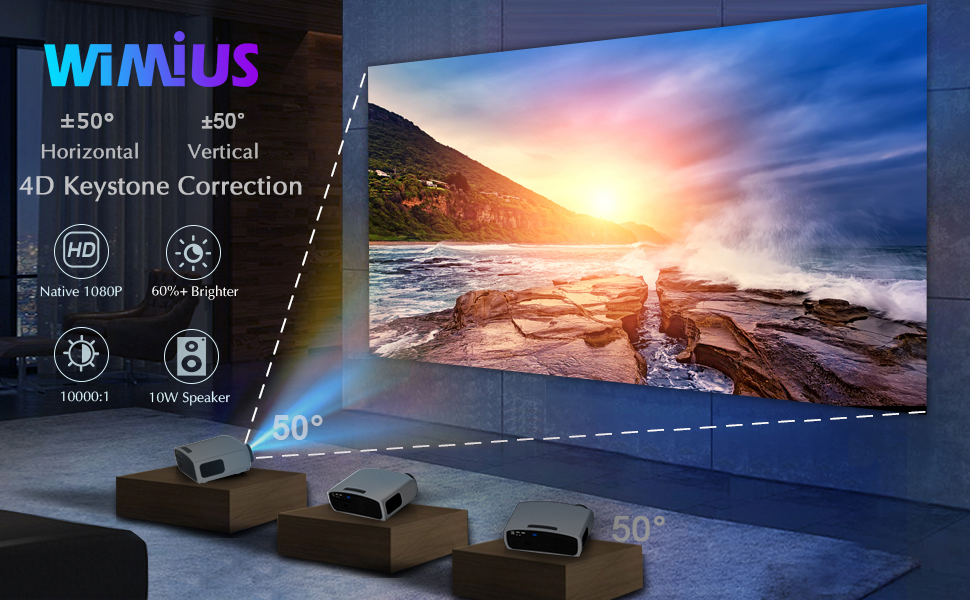 Best Outdoor Projector with WiFi and Bluetooth
