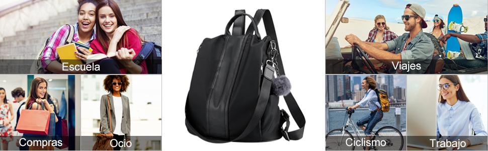 mochila mujer antirrobo