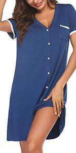 Women Short Sleeve Nightgowns