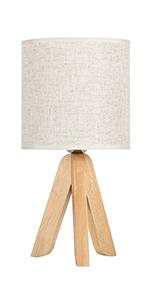 Lampe de table sur pied en bois.