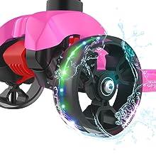 Allek scooter B02 flashing wheels big wide PU lightup