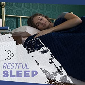 best insomnia weighted blanket, sleeping weighted blanket, better sleep, improve sleep, sleep apnea