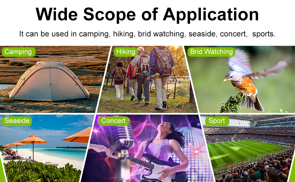 perfect for hiking hunting rock climbing bird watching concerts watching wildlife scenery