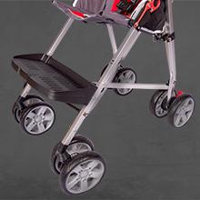 Adjustable footplate on excel elise special needs stroller