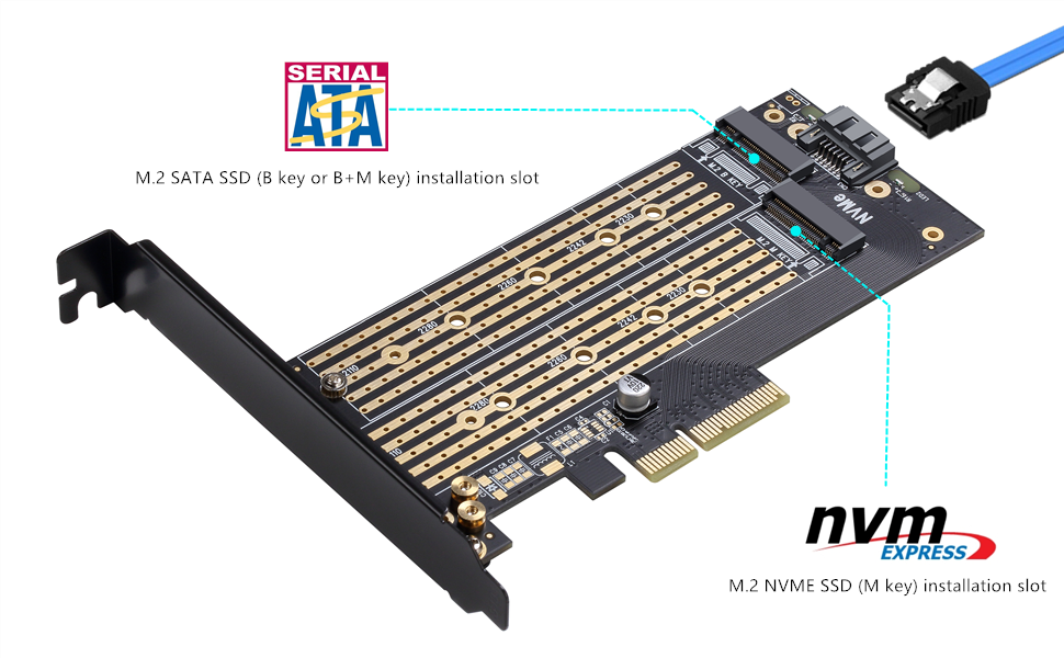 NVMe AHCI PCIe x4 M.2 NGFF SSD to PCIE 3.0 x4 converter adapter c GN