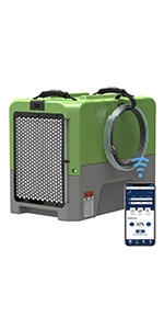 commericial dehumidifier in green