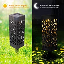 Warm White Garwarm Solar Garden Lights 8Pcs Automatic Solar Pathway Lights Outdoor Upgraded Led Solar Lights for Patio,Yard,Garden