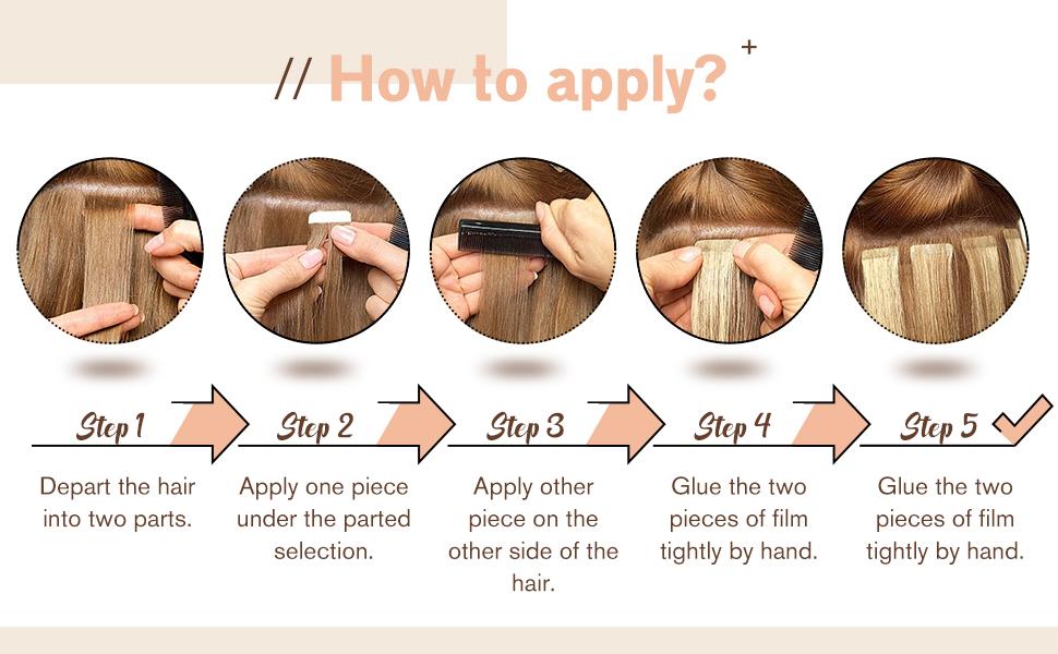 Tape in Hair Extensions Human Hair Blonde