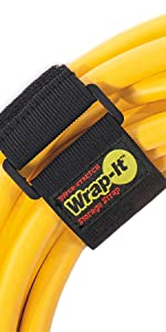 12 inch elastic hook and loop cinch strap for large extension cord organization and garage organizer