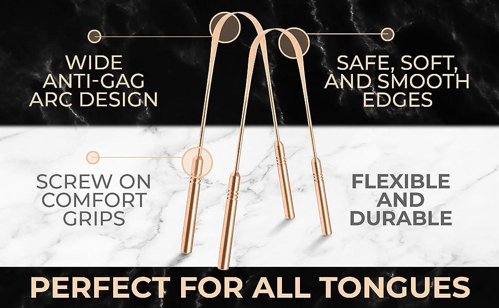 Tongue Scraper Copper DH (2 pack)