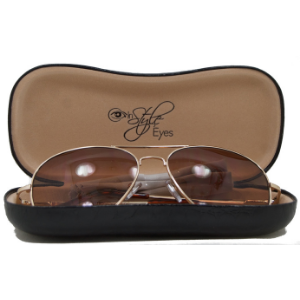 In Style Eyes case and cleaning cloth, glasses accessories, hard case, glasses care and protection