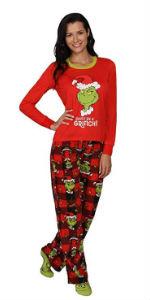 Christmas the grinch red green xmas winter holidays womens pajama pj plaid